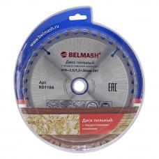 Диск пильный BELMASH 210x2,5/1,5x32/30; 36T