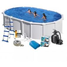 Каркасный бассейн Gre KITPR7388MAG овальный 730x375x132