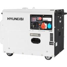 Электростанция дизельная с воздушным охлаждением HYUNDAI DHY 8000SE-3 в кожухе