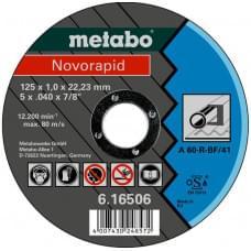 Диск отрезной Metabo Novorapid 125 x 1,0 x 22,23 мм, сталь, TF 41