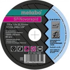 Диск отрезной SP-Novorapid Metabo (115x1.0x22,23 мм)