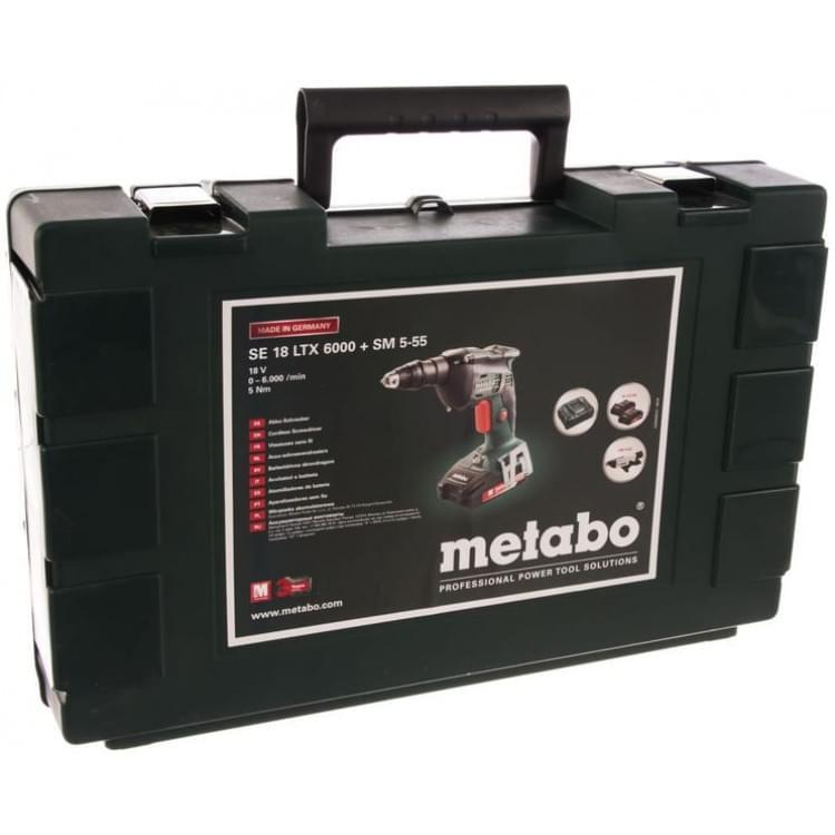 Аккумуляторный винтоверт с магазином Metabo SE 18 LTX 6000